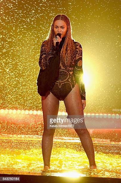 Recording artist Beyonce performs onstage during the 2016 BET Awards at the Microsoft Theater on June 26 2016 in Los Angeles California
