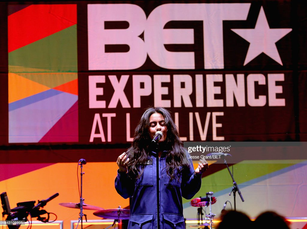Recording artist Bibi Bourelly performs on the BETX Stage sponsored by Nissan during the 2016 BET Experience on June 25, 2016 in Los Angeles, California.