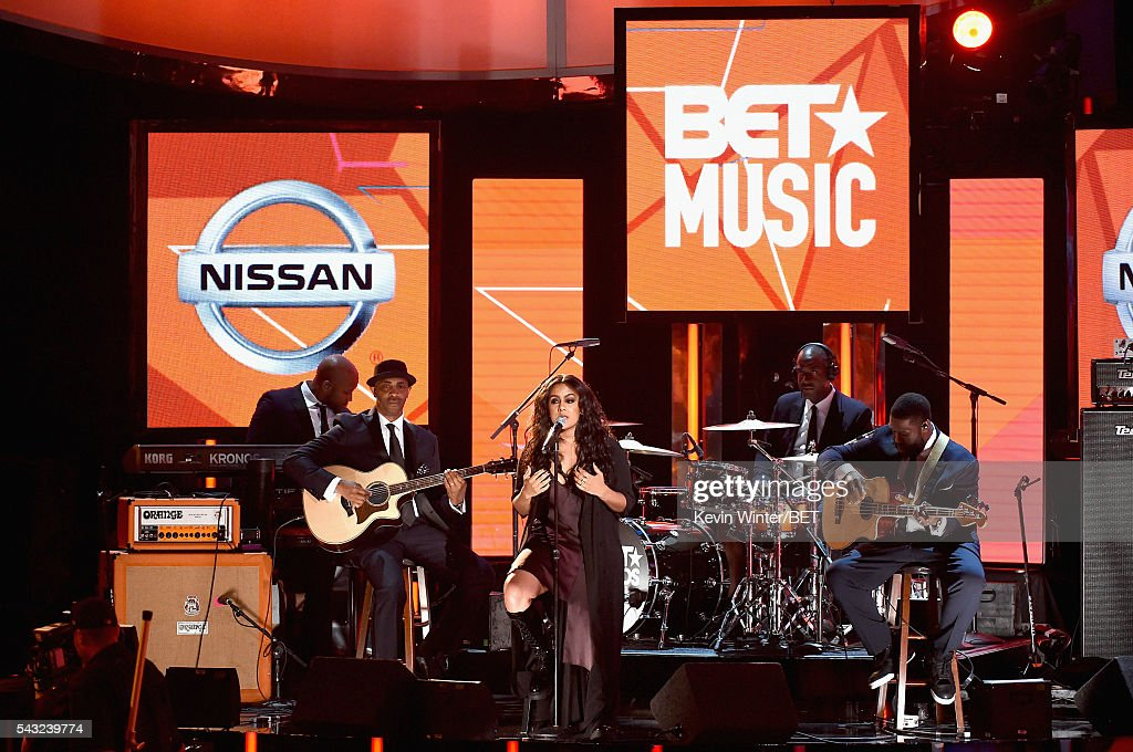 Recording artist Bibi Bourelly performs onstage during the 2016 BET Awards at the Microsoft Theater on June 26, 2016 in Los Angeles, California.