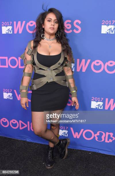 Recording artist Bibi Bourelly poses at MTV Woodies LIVE on March 16 2017 in Austin Texas