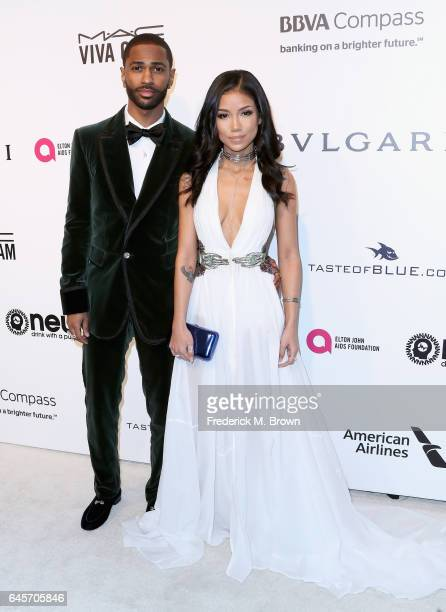 Recording Artist Big Sean and Recording Artist Jhene Aiko attends the 25th Annual Elton John AIDS Foundation's Academy Awards Viewing Party at The...