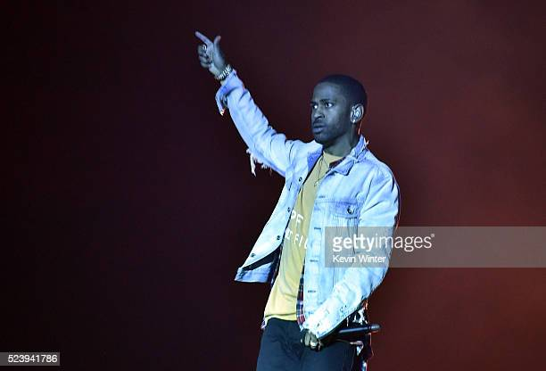 Recording artist Big Sean performs onstage with DJ Calvin Harris during day 3 of the 2016 Coachella Valley Music Arts Festival Weekend 2 at the...