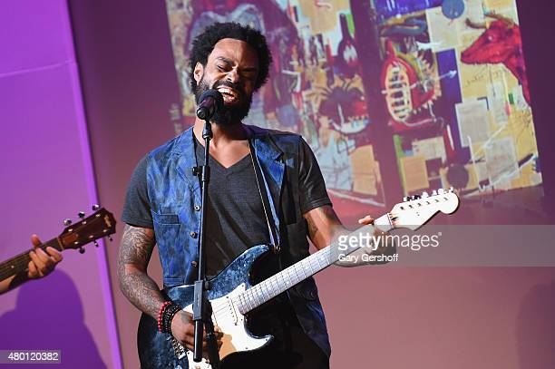 Recording artist Bilal performs during ' Apple Store Soho Presents Meet the Musician Bilal' at Apple Store Soho on July 9 2015 in New York City