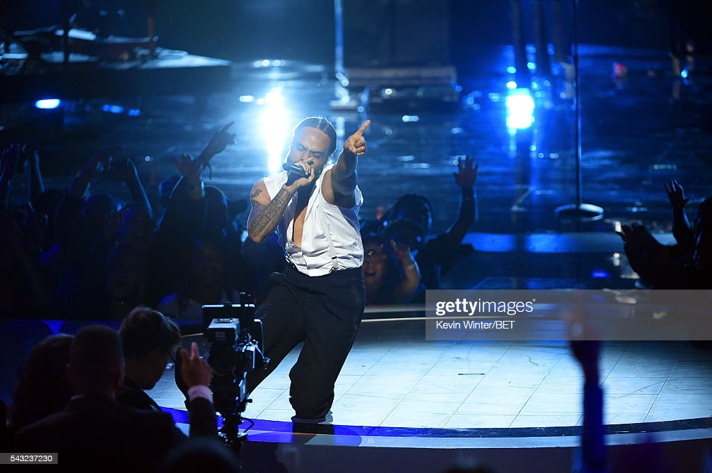 Recording artist Bilal performs onstage during the 2016 BET Awards at the Microsoft Theater on June 26, 2016 in Los Angeles, California.