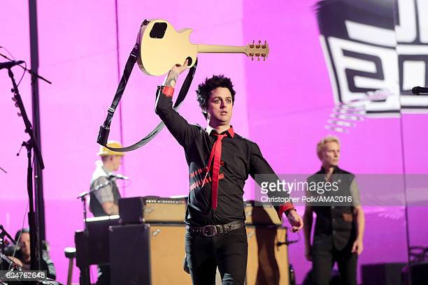Recording artist Billie Joe Armstrong of Green Day performs onstage the 2016 American Music Awards at Microsoft Theater on November 20 2016 in Los...