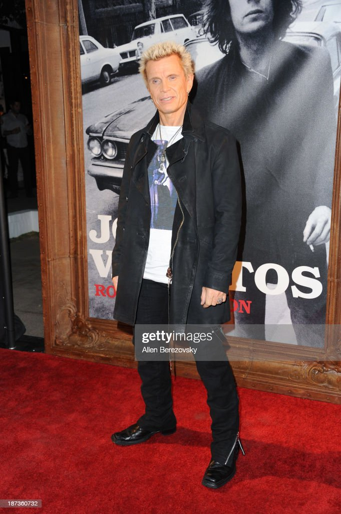 Recording artist <a gi-track='captionPersonalityLinkClicked' href=/galleries/search?phrase=Billy+Idol&family=editorial&specificpeople=138578 ng-click='$event.stopPropagation()'>Billy Idol</a> attends the John Varvatos' new book 'John Varvatos: Rock In Fashion' launch party at John Varvatos Los Angeles on November 7, 2013 in Los Angeles, California.