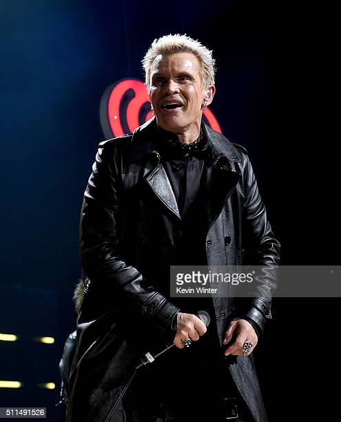 Recording artist Billy Idol performs onstage during the first ever iHeart80s Party at The Forum on February 20 2016 in Inglewood California