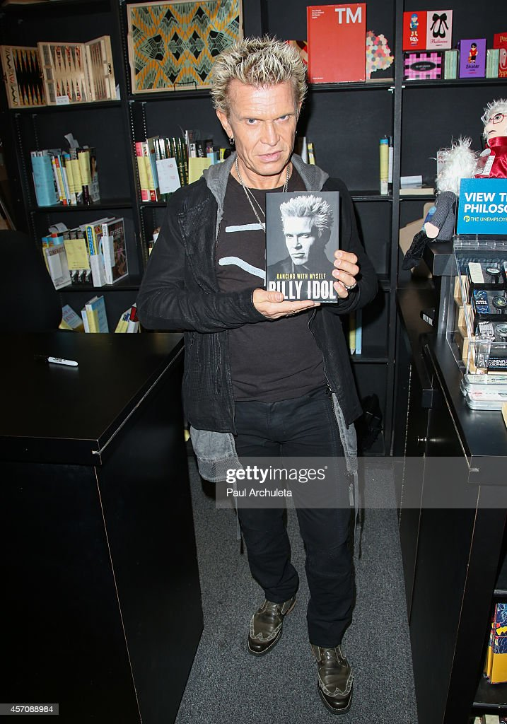 Recording Artist Billy Idol signs copies of his new book 'Dancing With Myself' at Book Soup on October 11 2014 in West Hollywood California