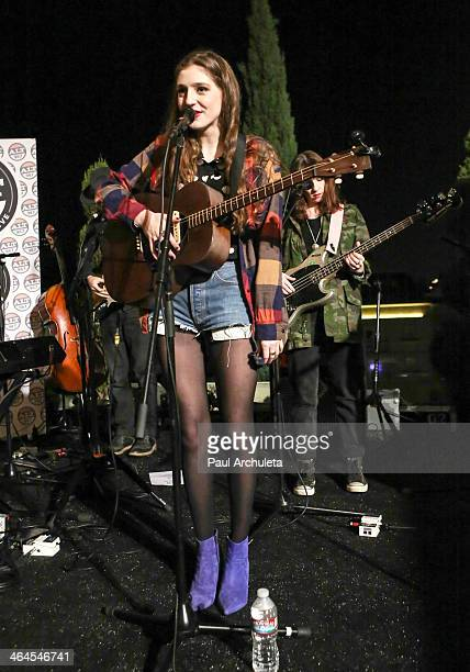 Recording artist Birdy performs in concert at the ALT 987FM Penthouse Party at The Historic Hollywood Tower on January 22 2014 in Hollywood California