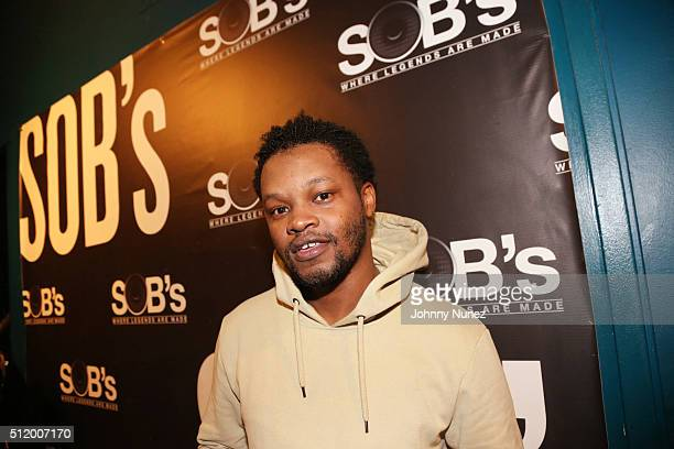 Recording artist BJ The Chicago Kid backstage at SOB's on February 23 2016 in New York City