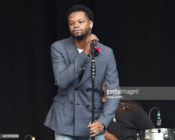 Recording artist BJ The Chicago Kid performs in concert at Chastain Park Amphitheater on August 2 2015 in Atlanta Georgia