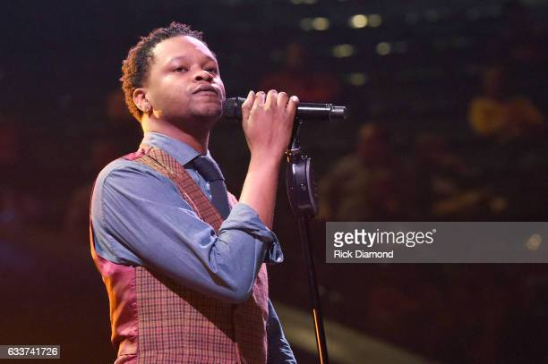 Recording artist BJ The Chicago Kid performs onstage during the BET Presents Super Bowl Gospel Celebration at Lakewood Church on February 3 2017 in...
