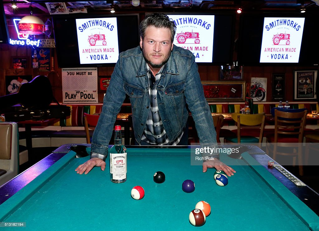 Recording artist <a gi-track='captionPersonalityLinkClicked' href=/galleries/search?phrase=Blake+Shelton&family=editorial&specificpeople=2352026 ng-click='$event.stopPropagation()'>Blake Shelton</a> unveiled Smithworks Vodka on February 23, 2016 in West Hollywood, California.