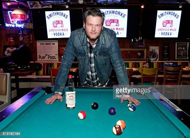 Recording artist Blake Shelton unveiled Smithworks Vodka on February 23 2016 in West Hollywood California