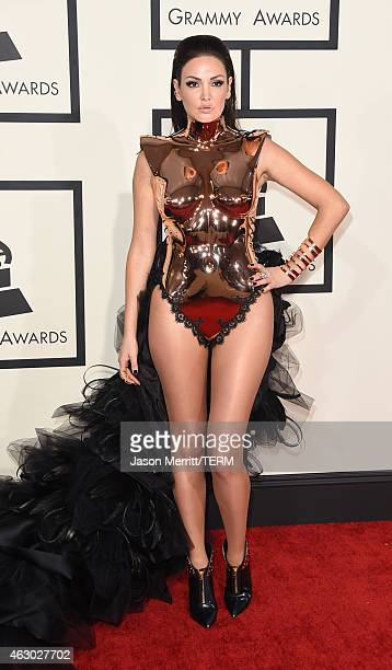 Recording artist Bleona Qereti attends The 57th Annual GRAMMY Awards at the STAPLES Center on February 8 2015 in Los Angeles California