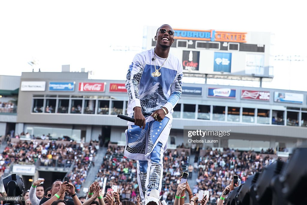 Recording artist B.o.B. performs at 102.7 KIIS FM's Wango Tango at StubHub Center on May 10, 2014 in Los Angeles, California.