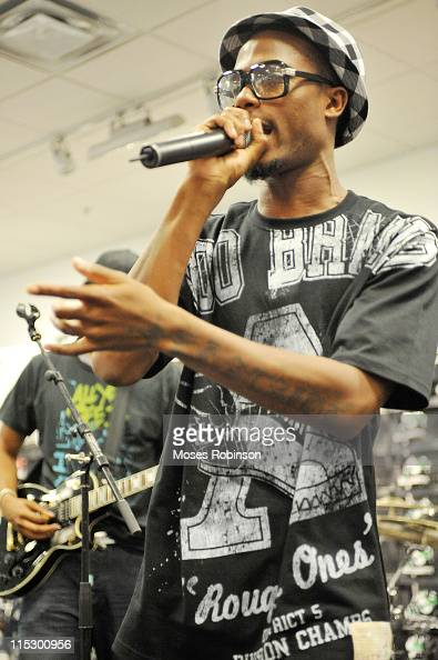 Recording artist BoB performs at the Reebok Classic Remix Collection hosted by Reebok and Foot Locker at Foot Locker Gallery at South Dekalb on May...