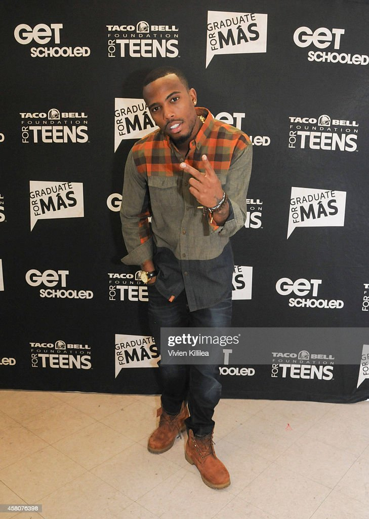 Recording artist BoB poses for a photo at the BoB Surprise Get Schooled Visit on October 29 2014 in Los Angeles California