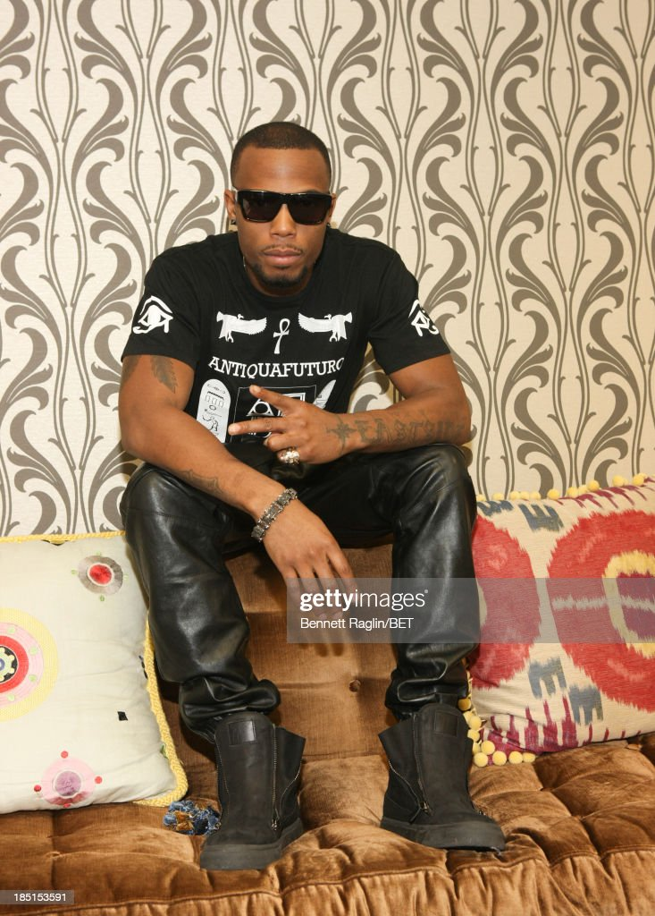 Recording artist <a gi-track='captionPersonalityLinkClicked' href=/galleries/search?phrase=B.O.B&family=editorial&specificpeople=5624724 ng-click='$event.stopPropagation()'>B.O.B</a>. visits 106 & Park at 106 & Park studio on October 17, 2013 in New York City.
