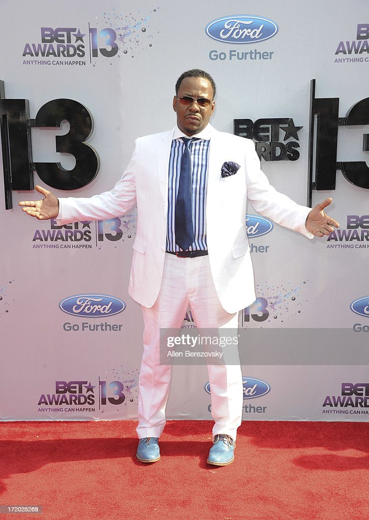 Recording artist Bobby Brown attends 2013 BET Awards - Arrivals at Nokia Plaza L.A. LIVE on June 30, 2013 in Los Angeles, California.