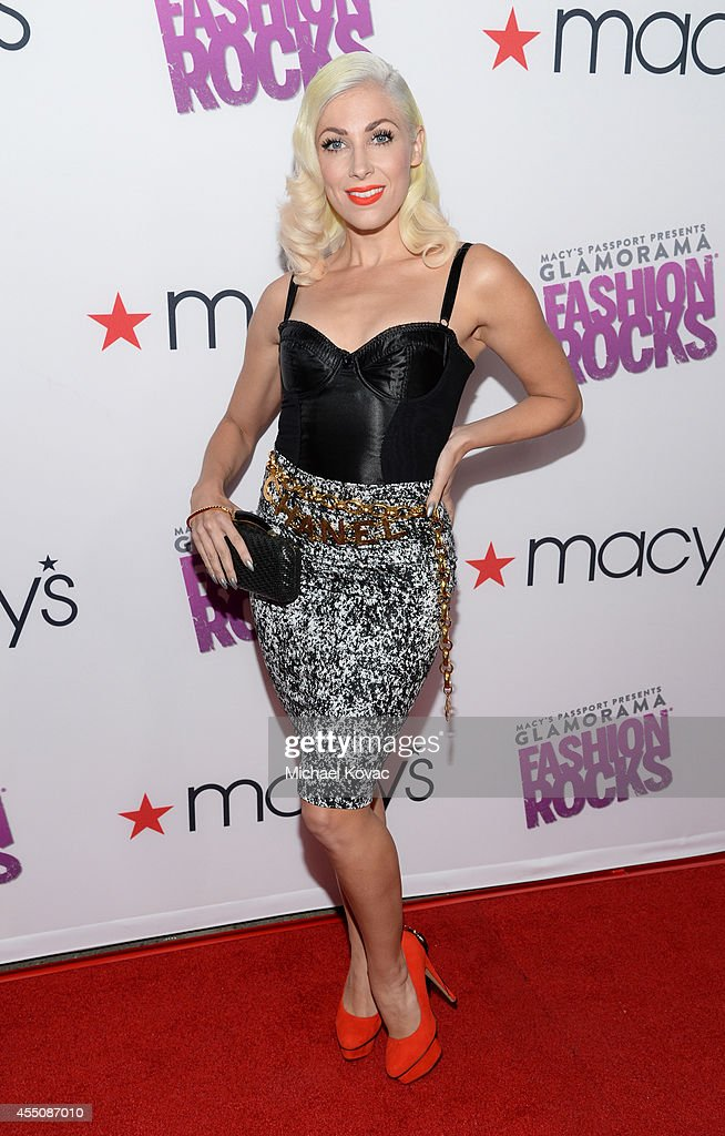 Recording artist Bonnie McKee attends Glamorama 'Fashion Rocks' presented by Macy's Passport at Create Nightclub on September 9 2014 in Los Angeles...