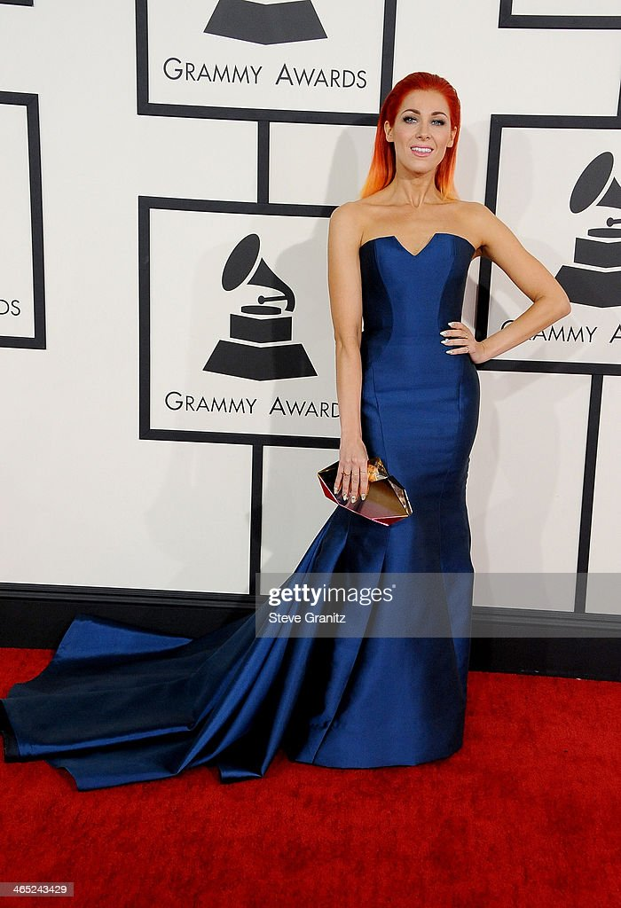 Recording artist Bonnie McKee attends the 56th GRAMMY Awards at Staples Center on January 26, 2014 in Los Angeles, California.