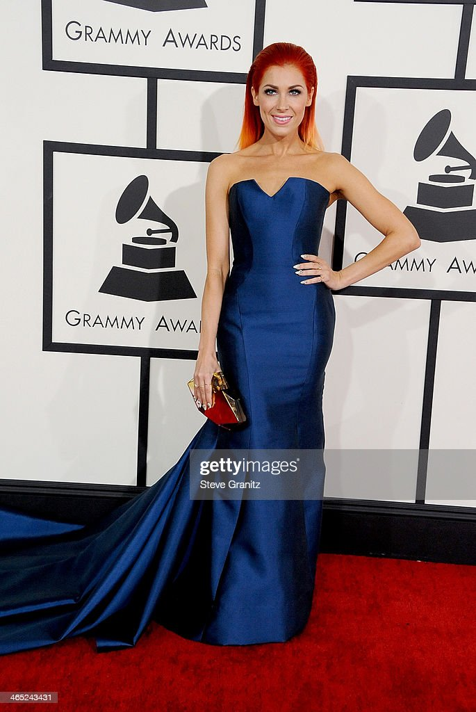 Recording artist Bonnie McKee attends the 56th GRAMMY Awards at Staples Center on January 26 2014 in Los Angeles California
