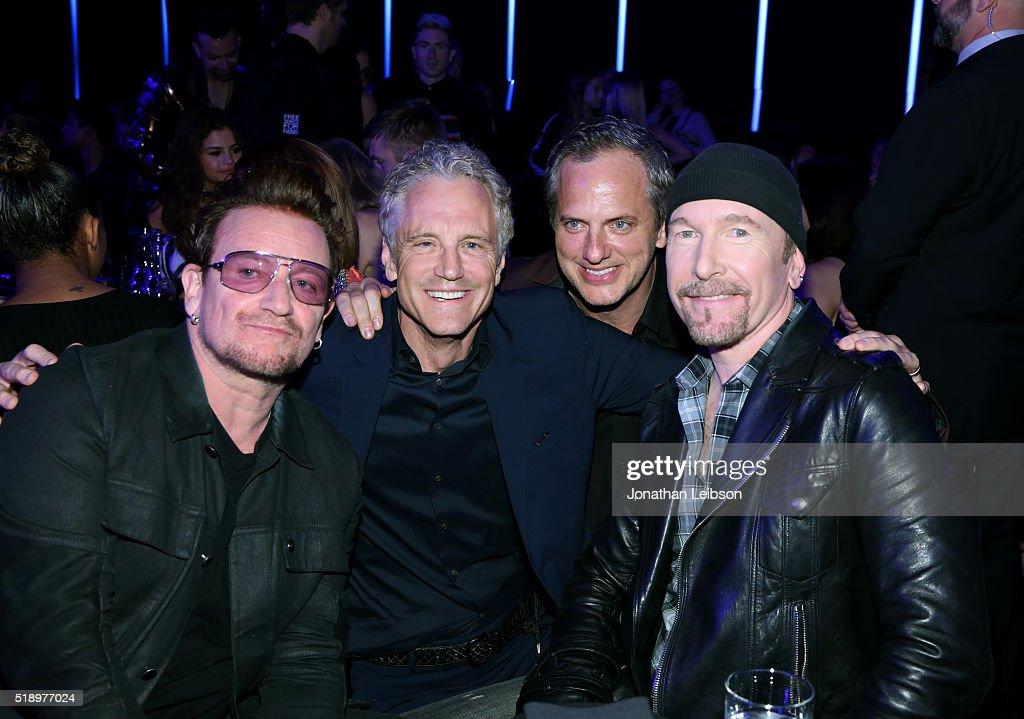 Recording artist Bono iHeartMedia's President of Entertainment Enterprises John Sykes iHeartMedia's President of National Programming Platforms Tom...