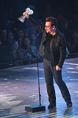 Recording artist Bono of U2 accepts the 'Innovator Award' onstage at the iHeartRadio Music Awards which broadcasted live on TBS TNT AND TRUTV from...