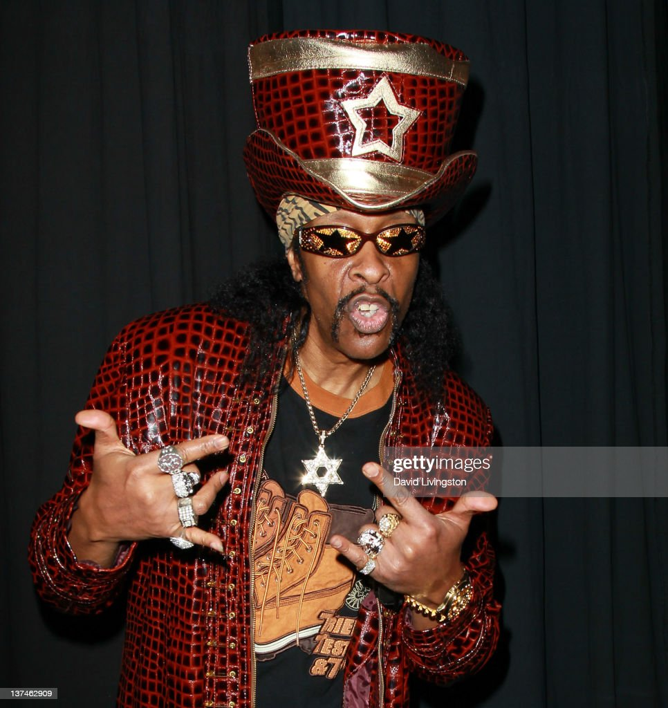 Recording artist <a gi-track='captionPersonalityLinkClicked' href=/galleries/search?phrase=Bootsy+Collins&family=editorial&specificpeople=221725 ng-click='$event.stopPropagation()'>Bootsy Collins</a> attends the 110th NAMM Show - Day 2 at the Anaheim Convention Center on January 20, 2012 in Anaheim, California.