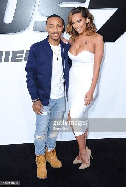 Recording Artist Bow Wow and Erica Mena arrive at the Los Angeles Premiere 'Furious 7' at TCL Chinese Theatre IMAX on April 1 2015 in Hollywood...