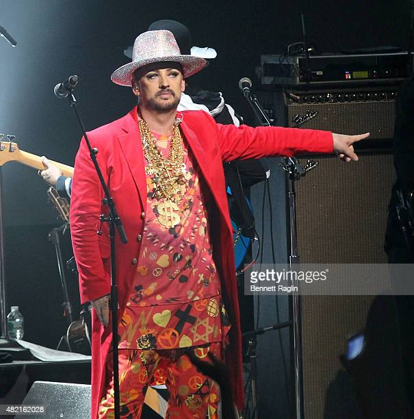 Recording artist Boy George of Culture Club performs in concert at Beacon Theatre on July 27 2015 in New York City