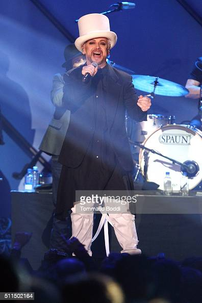 Recording artist Boy George of music group Culture Club performs on stage during the iHeart80s Party 2016 at The Forum on February 20 2016 in...