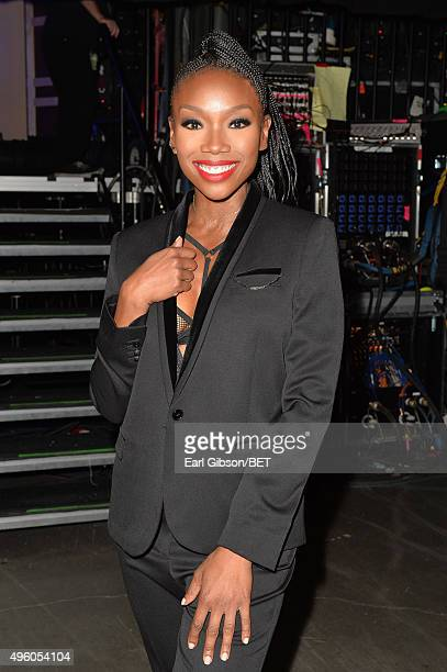 Recording artist Brandy attends the 2015 Soul Train Music Awards at the Orleans Arena on November 6 2015 in Las Vegas Nevada