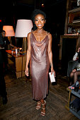 Recording artist Brandy attends the Republic Records Grammy Celebration presented by Chromecast Audio at Hyde Sunset Kitchen Cocktail on February 15...