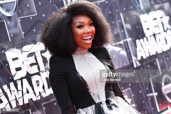 Recording artist Brandy Norwood arrived at the BET Make A Wish Foundation Recipients BET Experience At LA Live Red Carpet arrivals Weekend Events on...