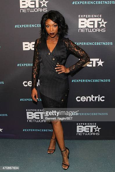 Recording artist Brandy Norwood attends the BET New York Upfronts on April 23 2015 in New York City