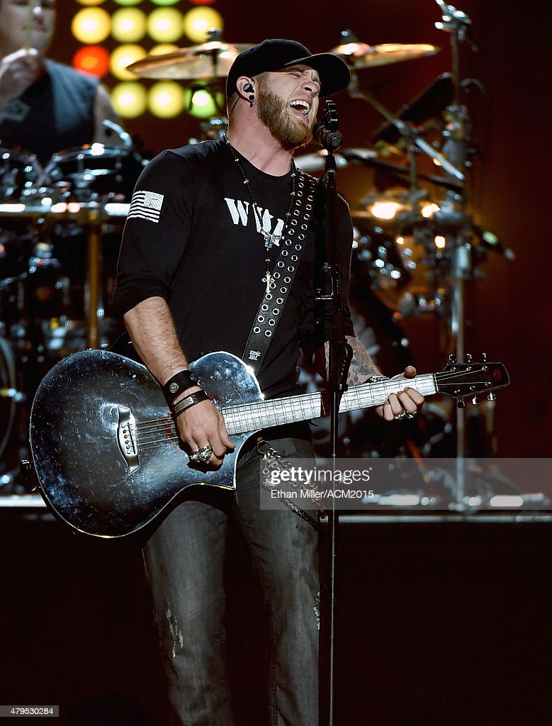 Recording artist Brantley Gilbert performs during ACM Presents: Superstar Duets at Globe Life Park in Arlington on April 17, 2015 in Arlington, Texas.
