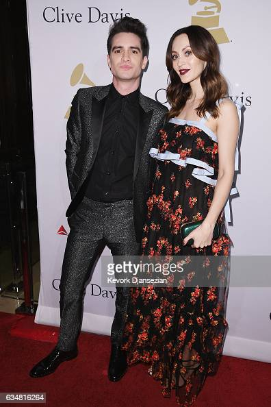 Recording artist Brendon Urie and Sarah Orzechowski attend PreGRAMMY Gala and Salute to Industry Icons Honoring Debra Lee at The Beverly Hilton on...