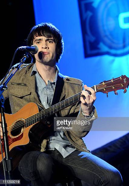 Recording artist Brendon Urie attends the Honda Civic Tour 2008 Press Launch Event featuring Panic At The Disco at Honda HQ on January 10 2008 in...