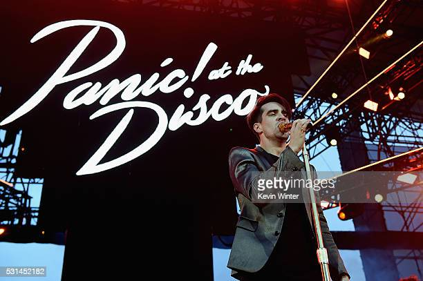 Recording artist Brendon Urie of music group Panic at the Disco performs onstage at KROQ Weenie Roast 2016 at Irvine Meadows Amphitheatre on May 14...