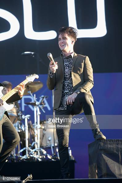 Recording artist Brendon Urie of Panic at the Disco performs onstage during the 2016 Daytime Village at the iHeartRadio Music Festival at the Las...