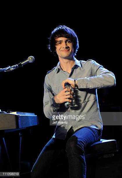 Recording artist Brendon Urie operforms at the Honda Civic Tour 2008 Press Launch Event featuring Panic At The Disco at Honda HQ on January 10 2008...