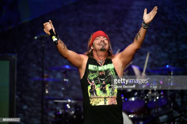 Recording artist Bret Michaels performs at The Joint inside the Hard Rock Hotel Casino on November 3 2017 in Las Vegas Nevada Michaels who has...