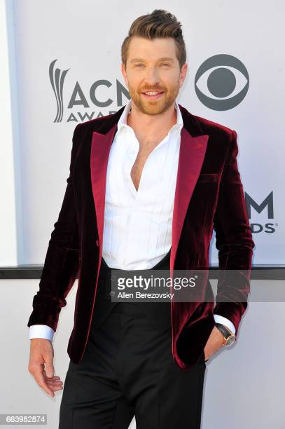 Recording artist Brett Eldredge arrives at the 52nd Academy Of Country Music Awards on April 2 2017 in Las Vegas Nevada