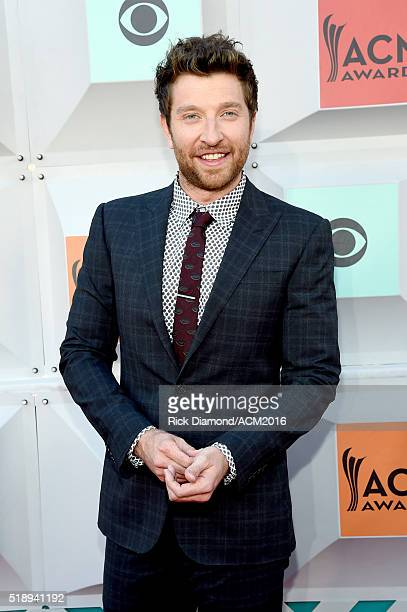Recording artist Brett Eldredge attends the 51st Academy of Country Music Awards at MGM Grand Garden Arena on April 3 2016 in Las Vegas Nevada