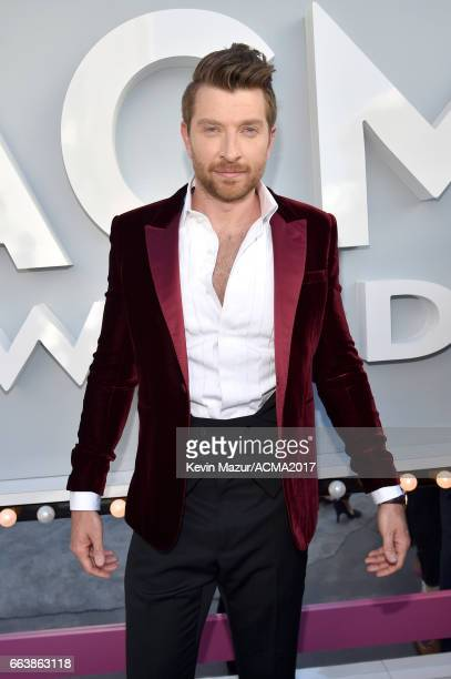 Recording artist Brett Eldredge attends the 52nd Academy Of Country Music Awards at Toshiba Plaza on April 2 2017 in Las Vegas Nevada