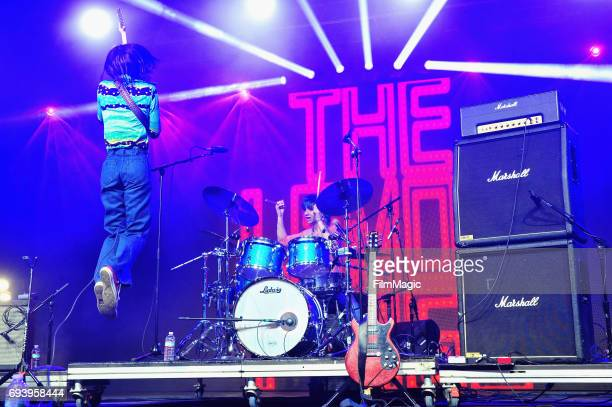 Recording artist Brian D'Addario of The Lemon Twigs performs onstage at That Tent during Day 1 of the 2017 Bonnaroo Arts And Music Festival on June 8...