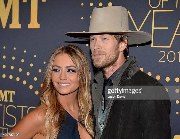 Recording Artist Brian Kelley of Florida Georgia Line and wife BrittneyMarie Cole Kelley arrive at CMT Artists of the Year 2015 at Schermerhorn...