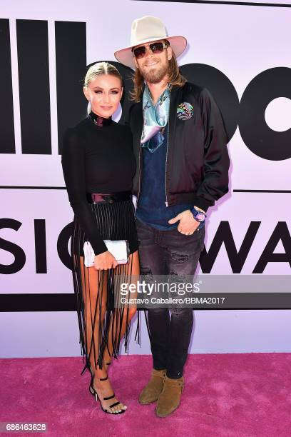 Recording artist Brian Kelley of music group Florida Georgia Line and Hayley Stommel attend the 2017 Billboard Music Awards at TMobile Arena on May...